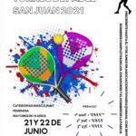 El Ayuntamiento y VivHaría organizan un torneo de pádel con motivo del Día de San Juan